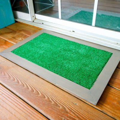 DIY astroturf doormat- with FREE PDF plans!