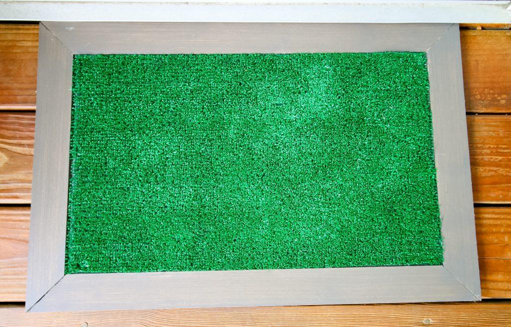Full shot of astroturf doormat