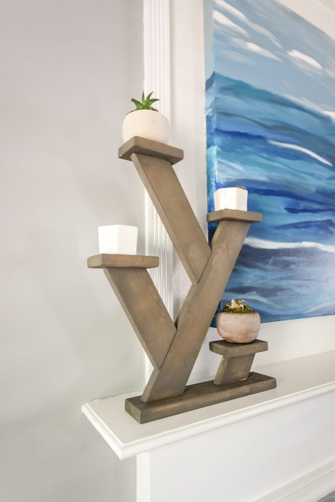 Angled tabletop plant stand - Charleston Crafted