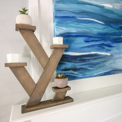 Angled tabletop plant stand