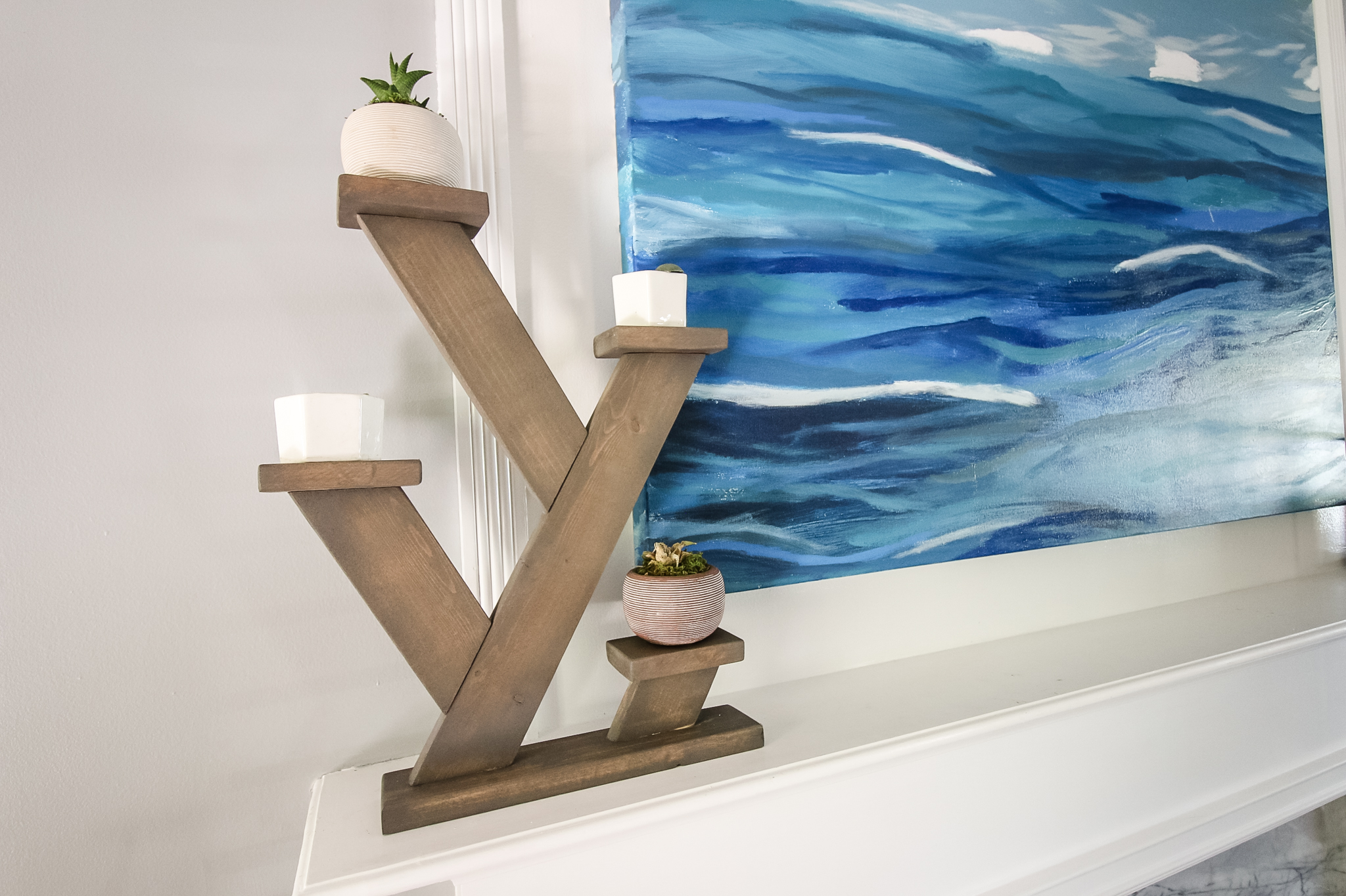 Angled plant stand