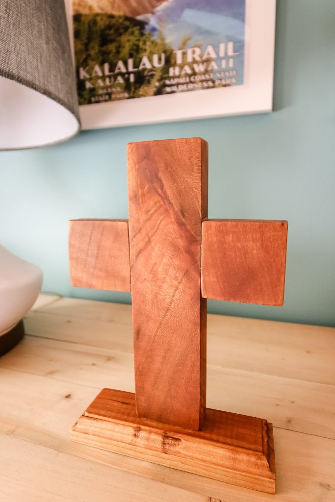 Tall photo of wooden cross
