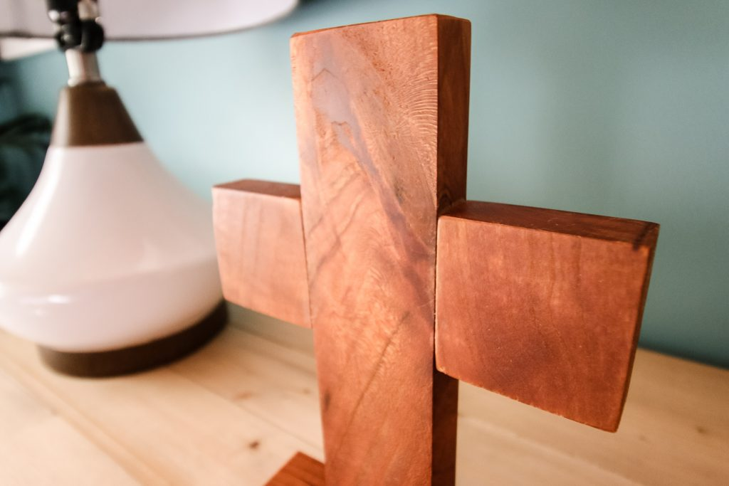 Close up of wooden cross