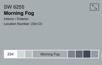 Sherwin Williams Morning Fog SW6255
