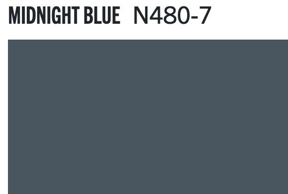 Midnight Blue by Behr (N480-7)