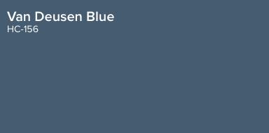 Van Deusen Blue by Benjamin Moore (HC 156)