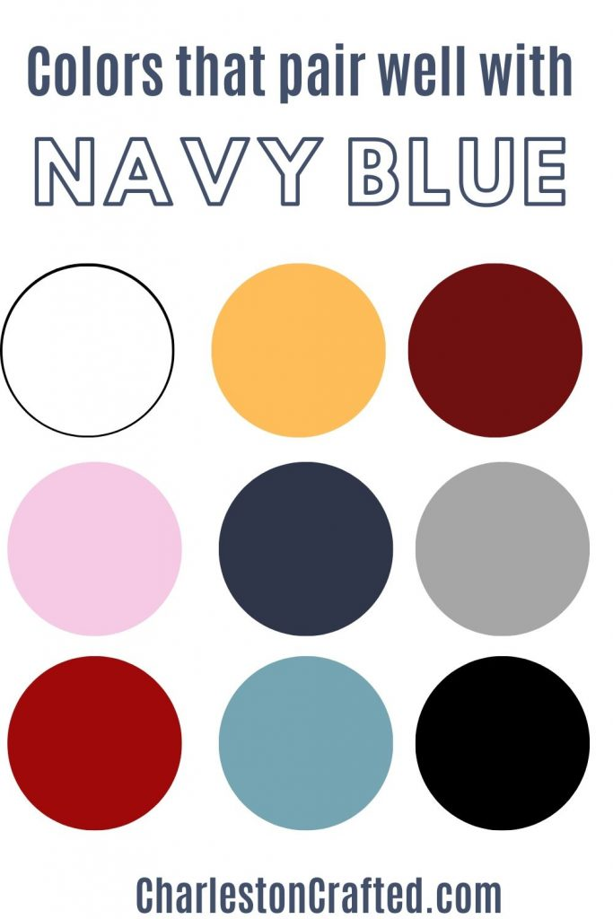 colors that pair well with navy blue