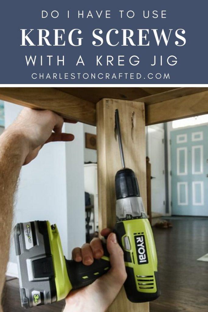 do I have to use kreg screws with a kreg jig pocket hole jig