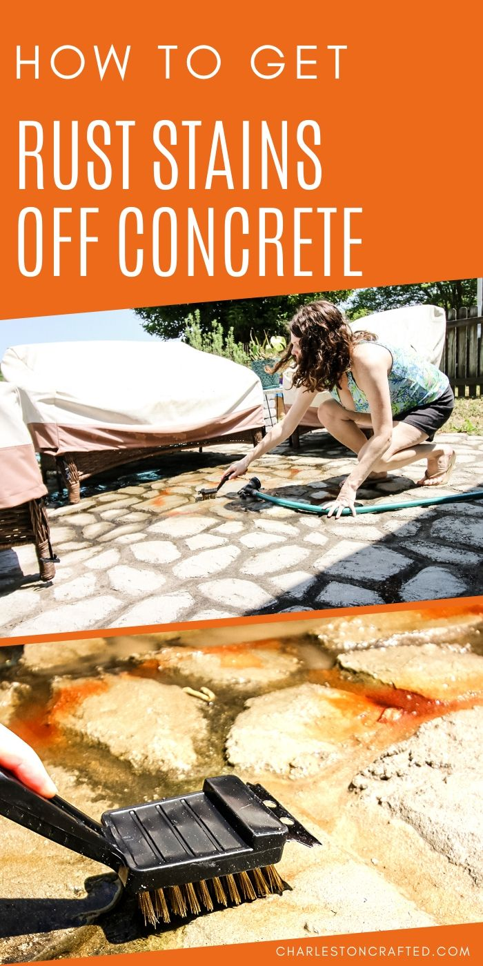 how to get rust stains off concrete