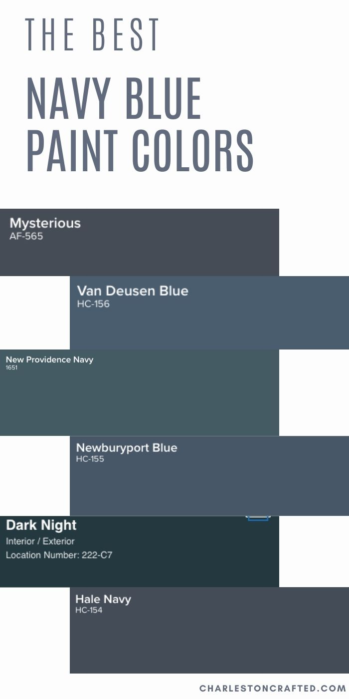 The 17 Best Classic Navy Paint Colors For Any Home