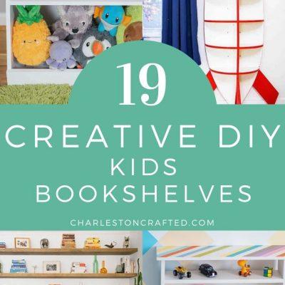19 Creative Kids DIY Bookshelf Ideas