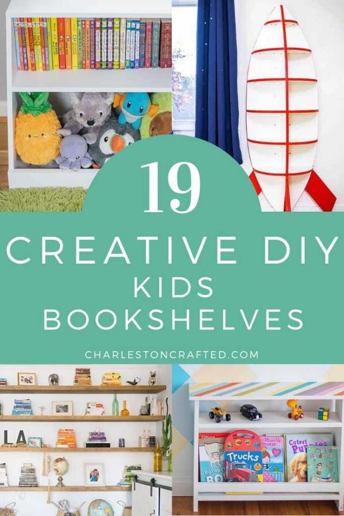 19 creative diy kids bookshelves ideas