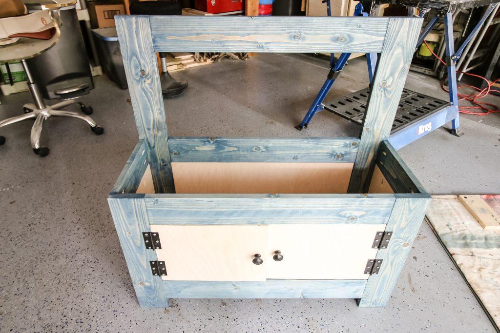 Adding plywood sides