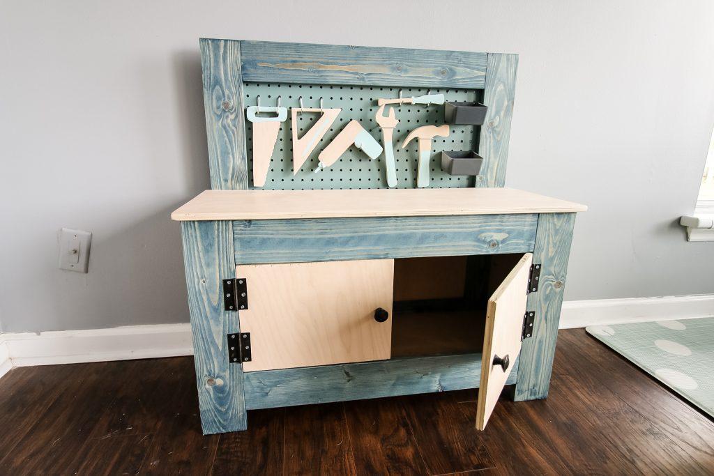 Final DIY toddler workbench