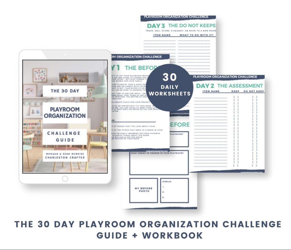 Playroom Organization eBook Layout Mockup