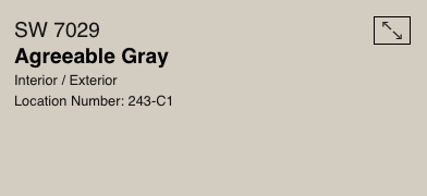 Agreeable Gray by Sherwin Williams (SW 7029)