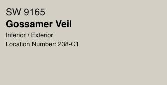 Gossamer Veil by Sherwin Williams (SW 9165)