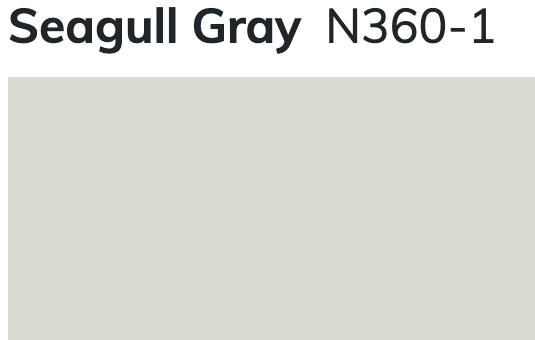 Seagull Gray by Behr (N360-1)