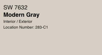 Modern Gray by Sherwin Williams (SW 7632)