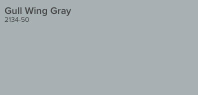 Gull Wing Gray by Benjamin Moore (2134-50)