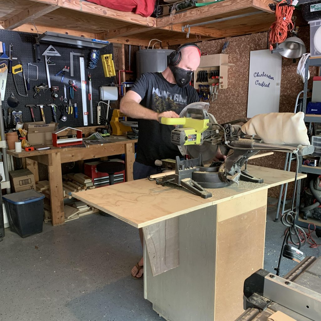 How to Use a Miter Saw - Charleston Crafted