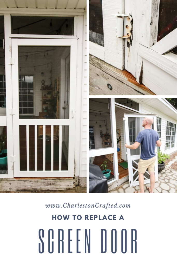 How to replace a screen door - Charleston Crafted