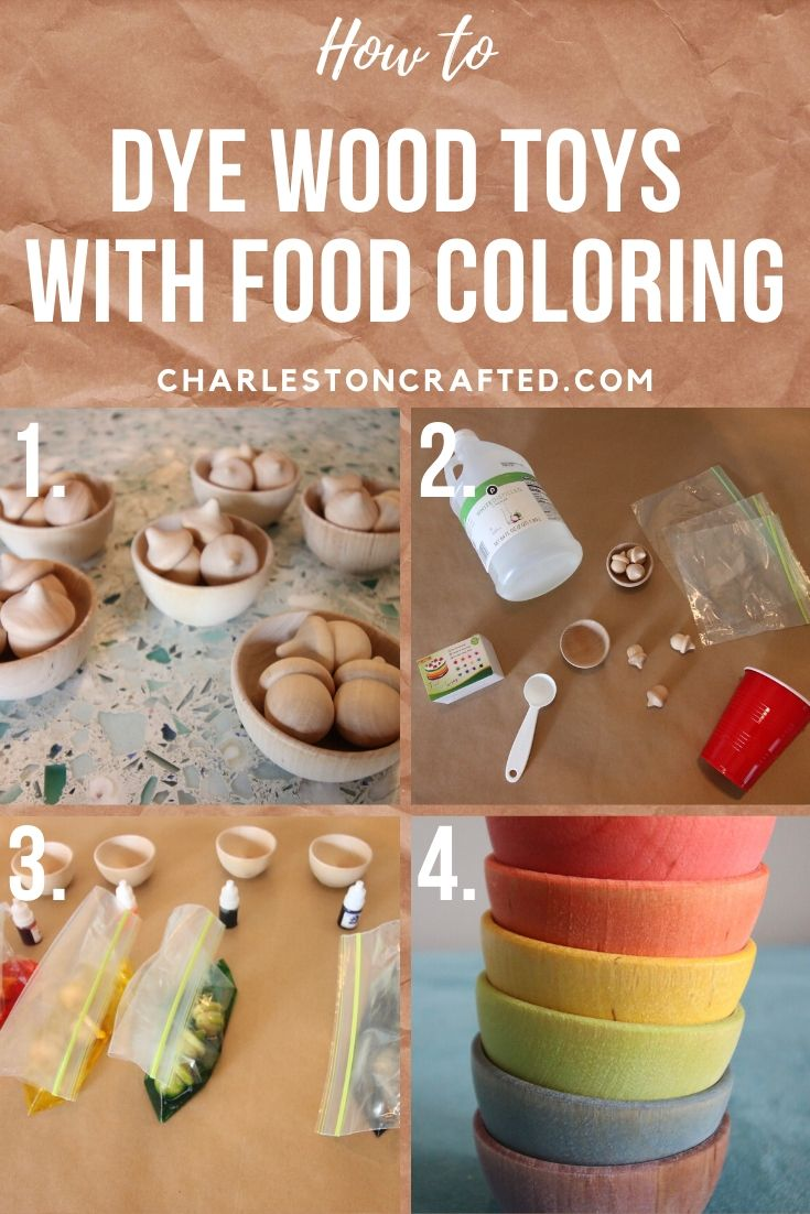 How to dye wood with food coloring