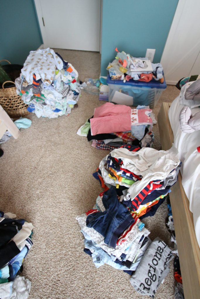 How to purge and organize baby clothes for baby #2