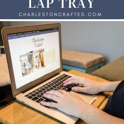 DIY wooden laptop tray