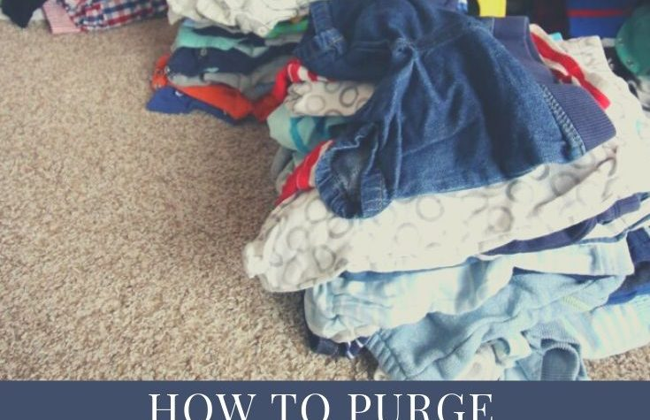 how to purge and organize baby clothes