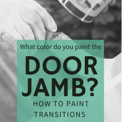 What color do you paint the door jamb?