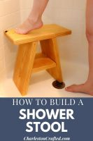 DIY wooden shower stool – FREE PDF Plans!
