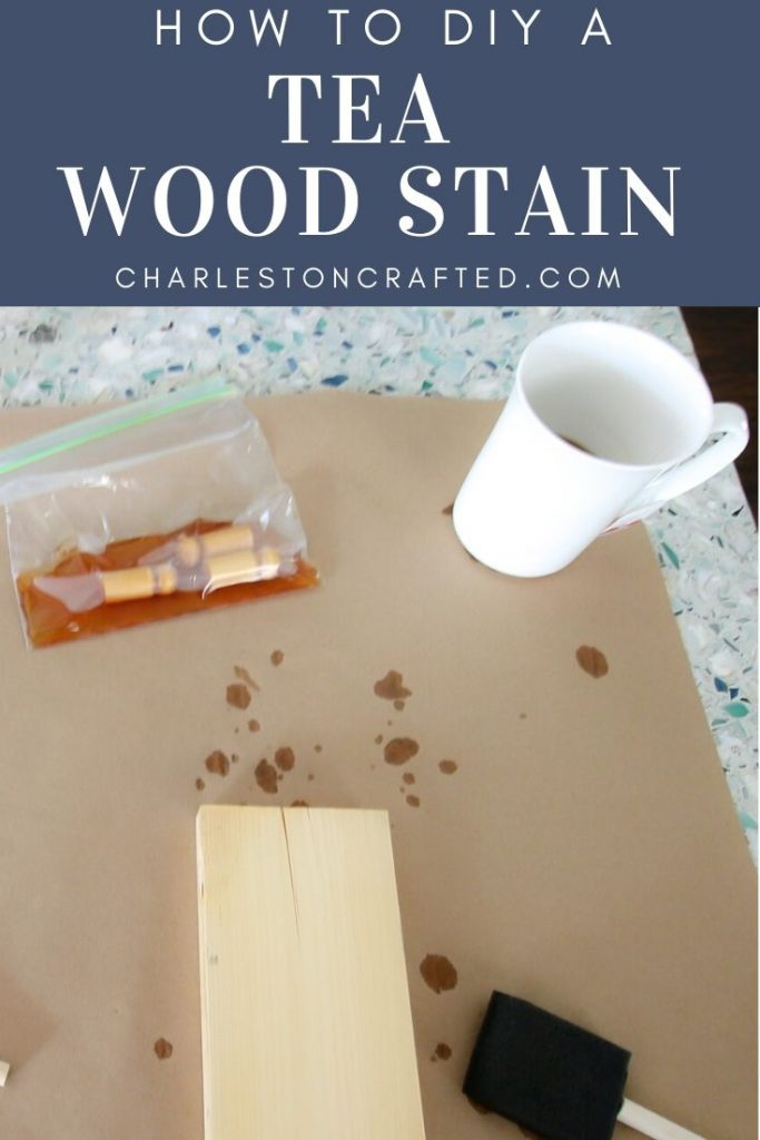 How to diy a tea wood stain for wood