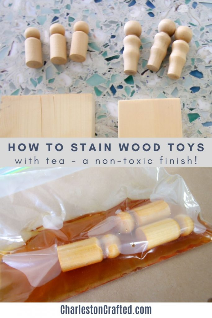 How to stain wood toys with tea