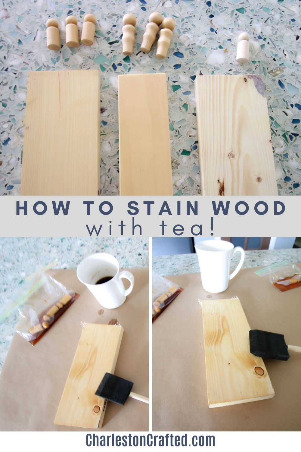 How to stain wood with tea
