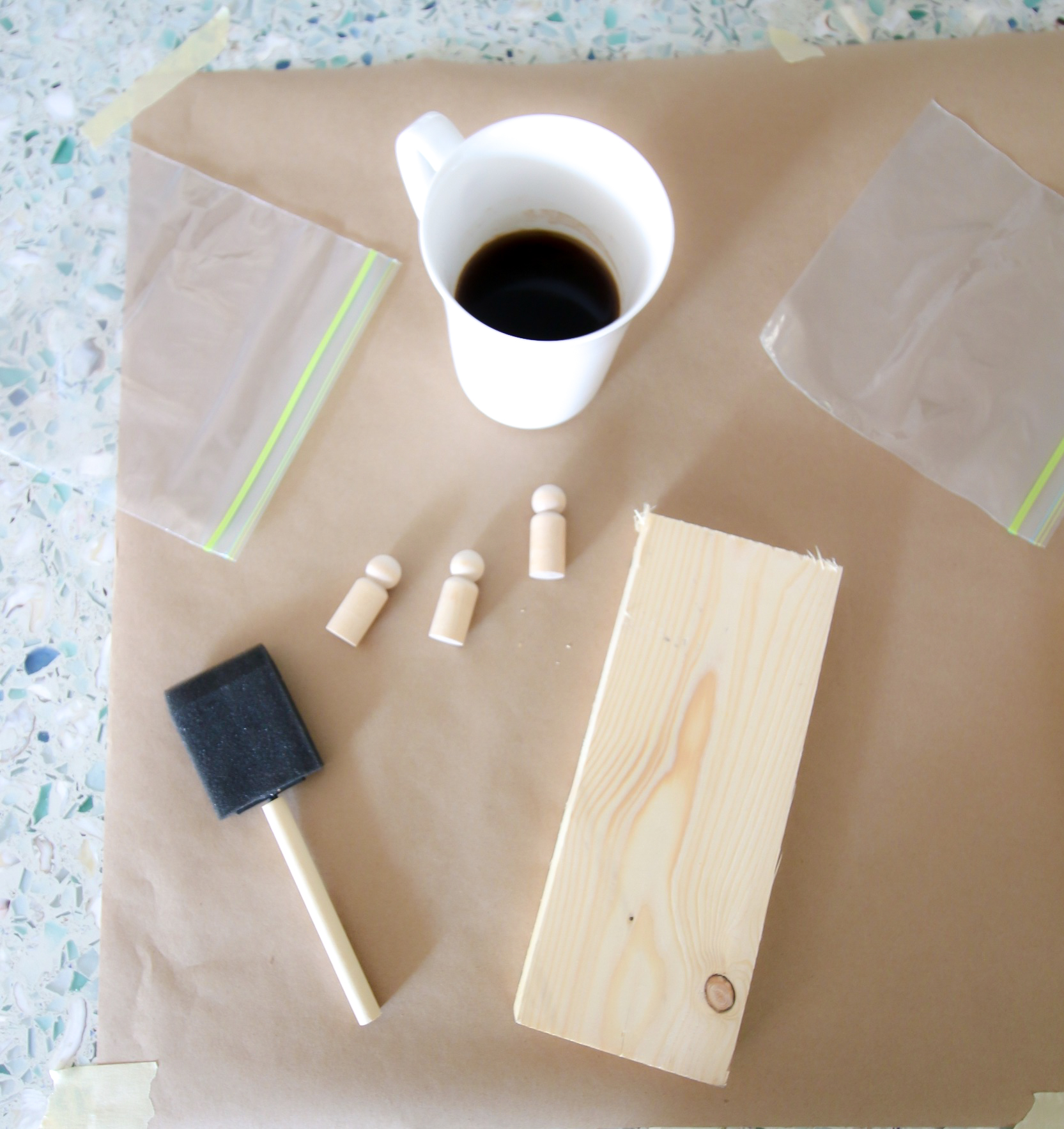 how to prepare wood and coffee for staining