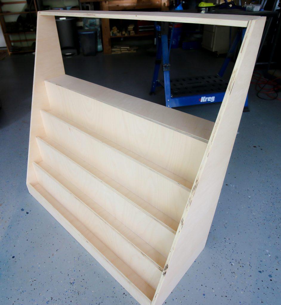 Adding sides to front-facing bookshelf