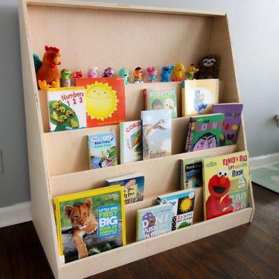 DIY Montessori front-facing bookshelf - Charleston Crafted