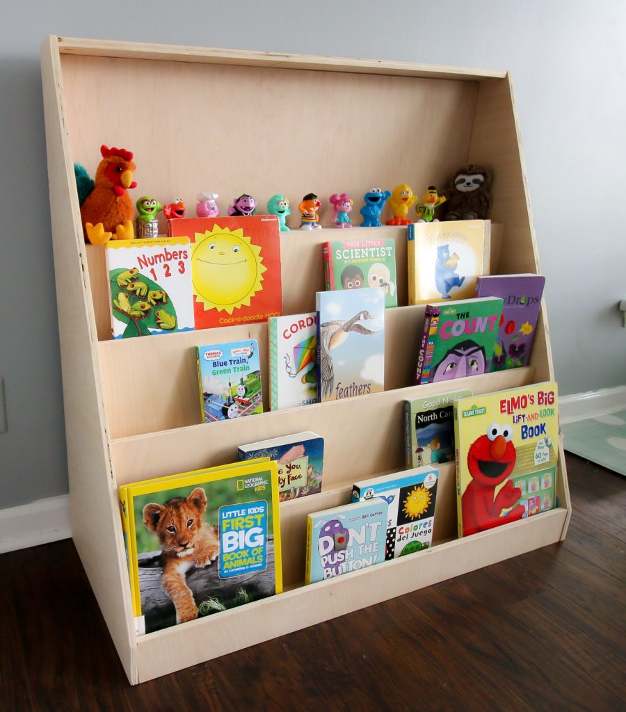 DIY Montessori front-facing bookshelf - Charleston Crafted