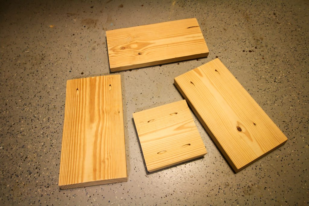 Cuts needed to make a DIY wooden shower stool