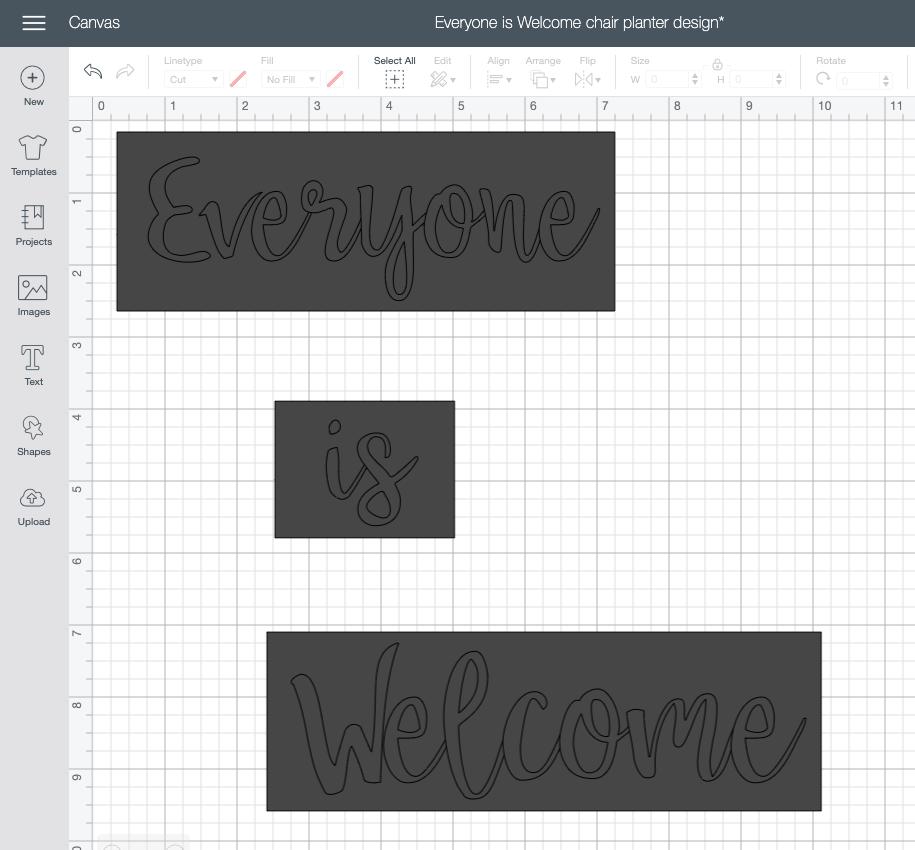 how to make a stencil in cricut design space