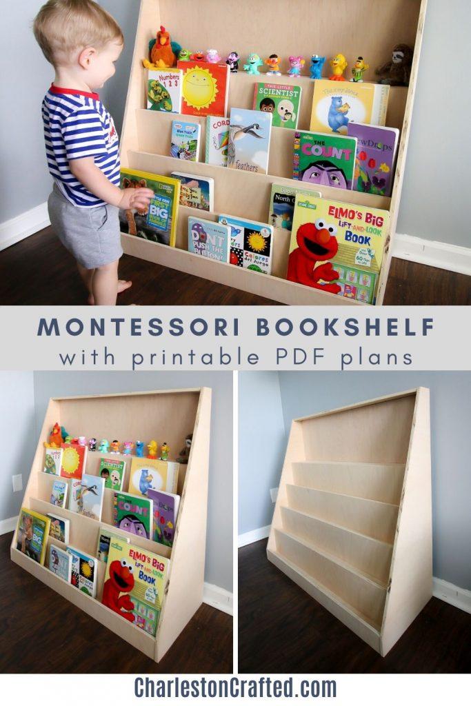 diy montessori bookshelf with printable pdf plans