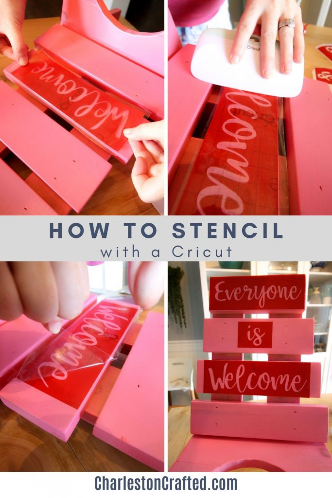 how to apply a stencil made with a cricut