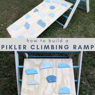 How to make a Pikler triangle ramp – with PDF plans!