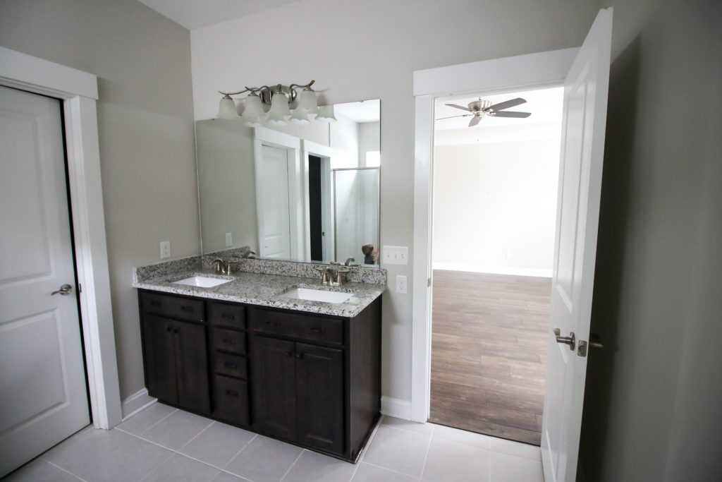 agreeable gray in a bathroom