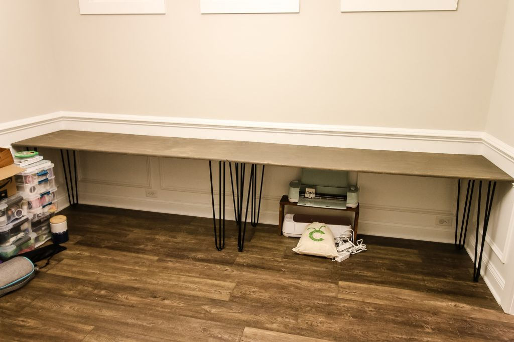 Plywood and hairpin desk - Charleston Crafted