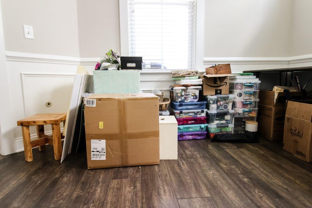 craft supply storage before