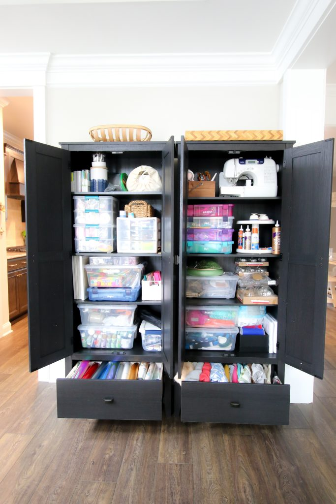 Wayfair cabinets used for craft supplies