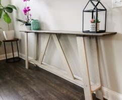 DIY farmhouse style console table- PDF plans
