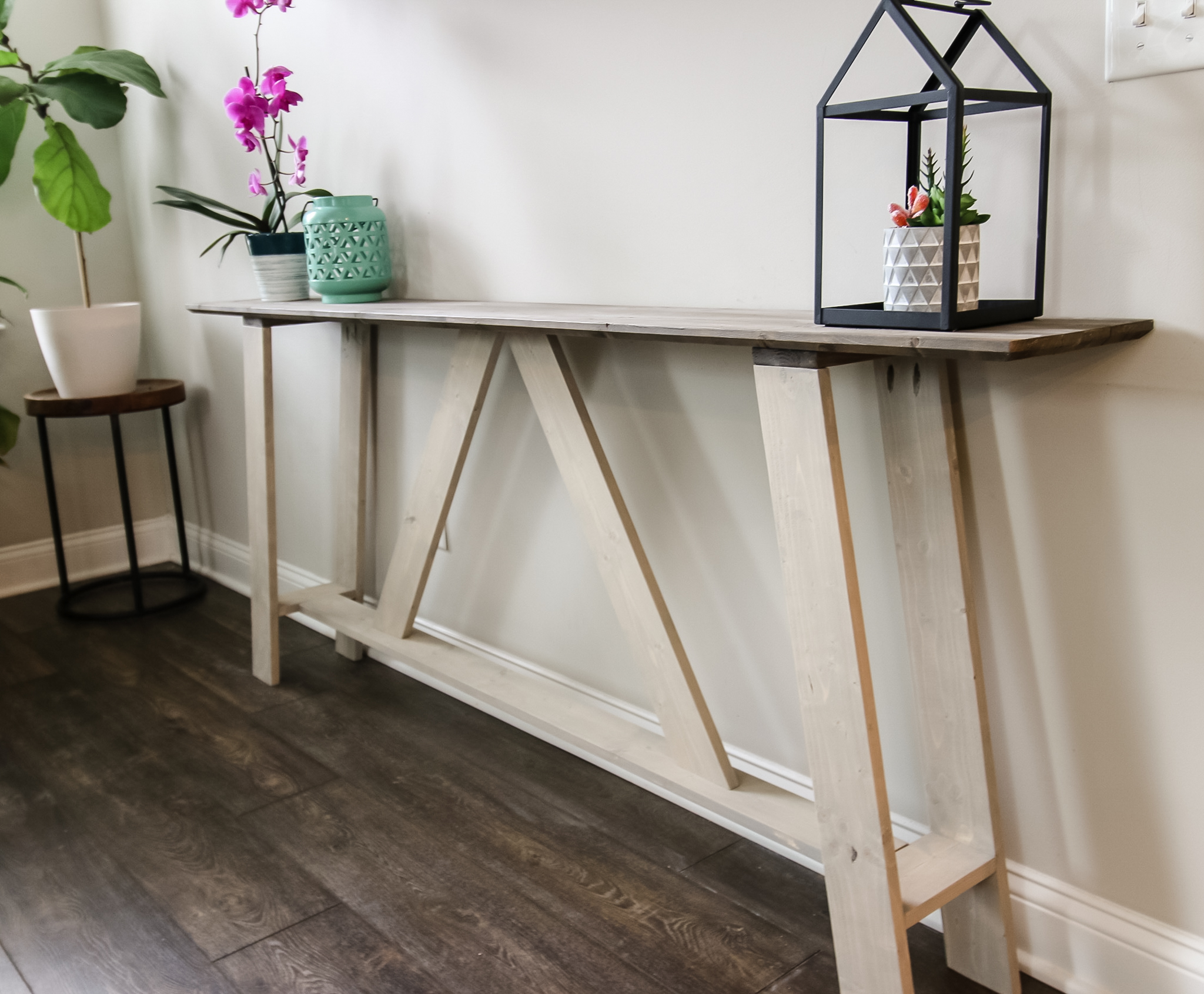 Console table from side